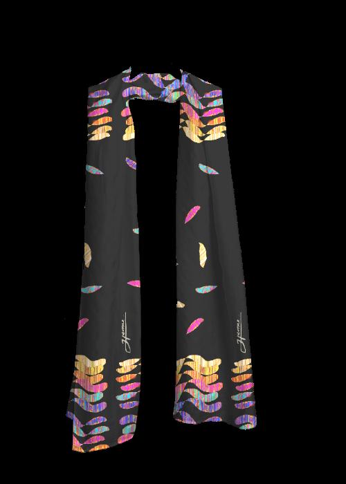Scarf - Black - COLOR LEAVES